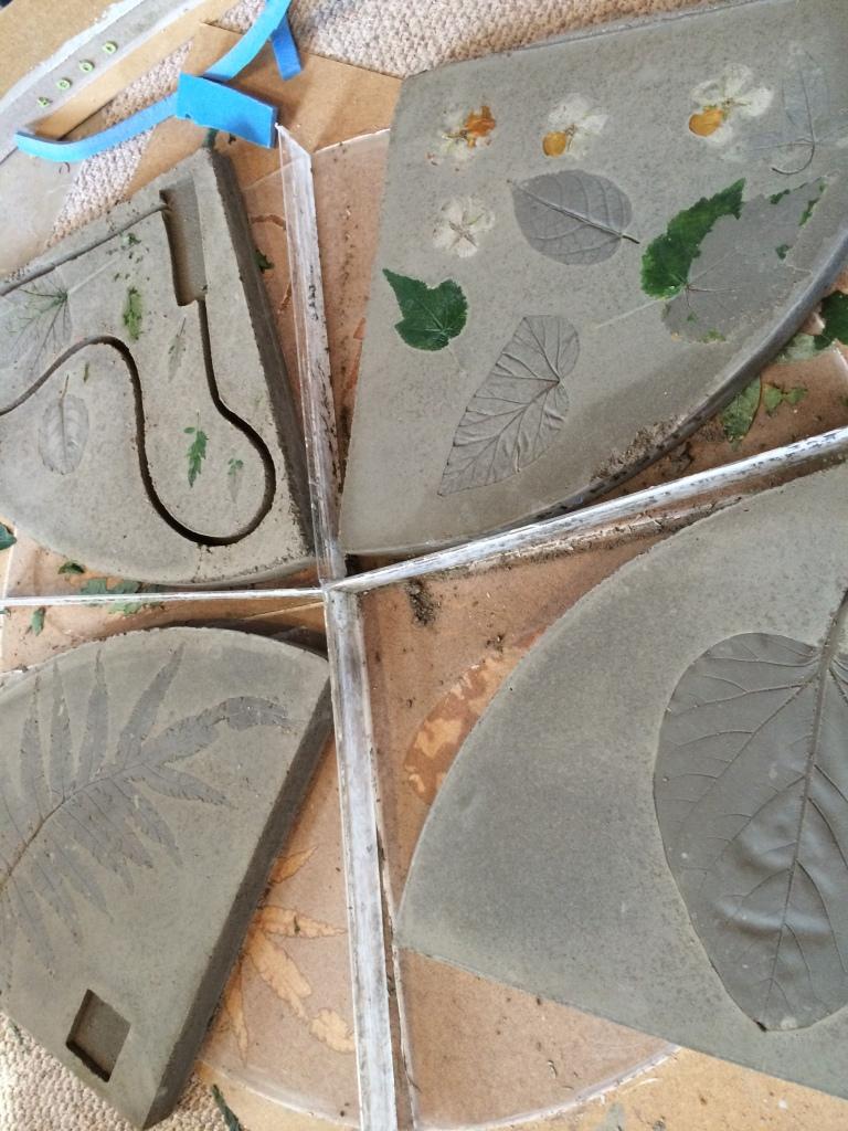 Casting concrete fossils